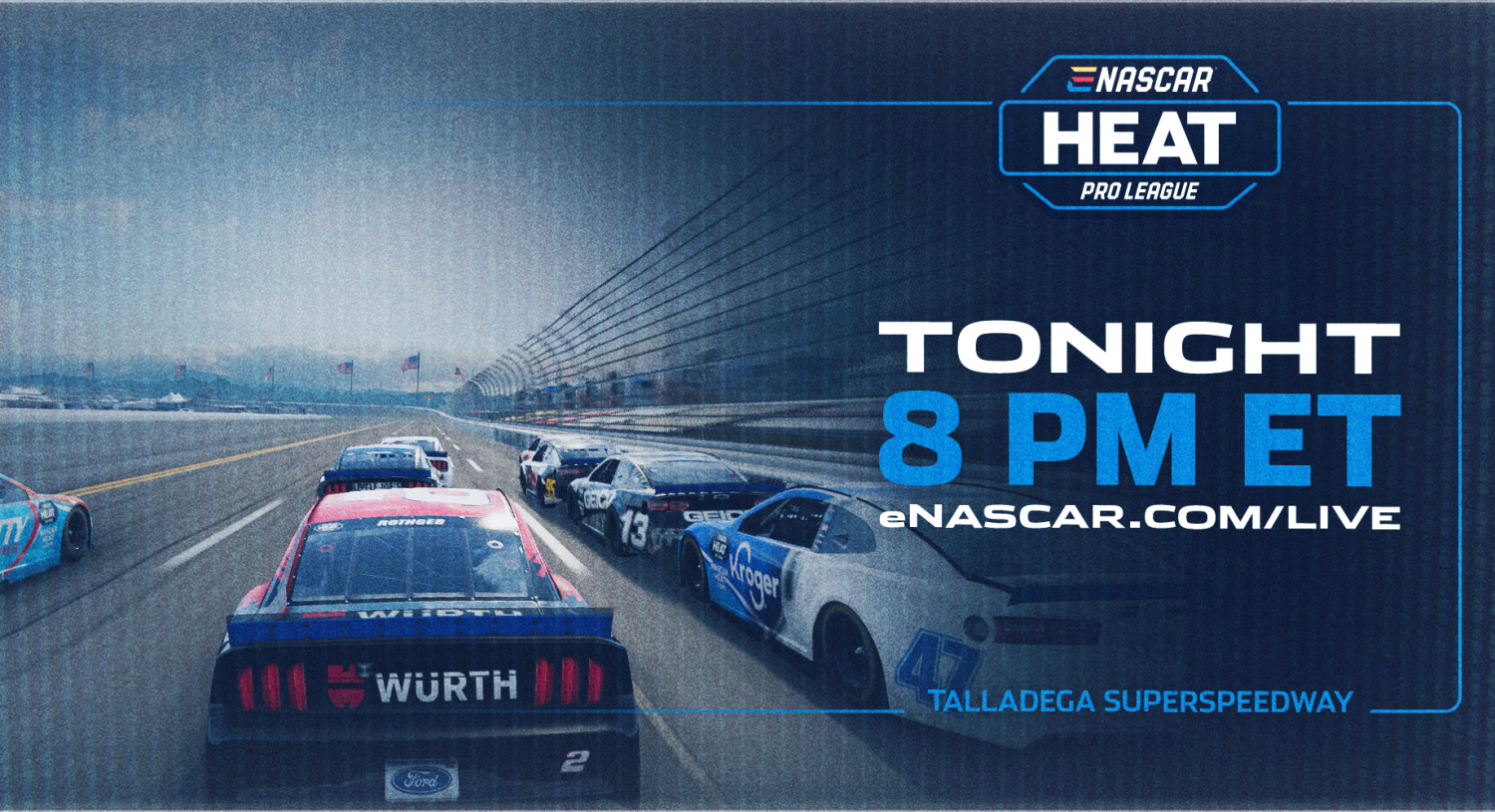 LIVE NOW: eNASCAR Heat Pro League from Talladega